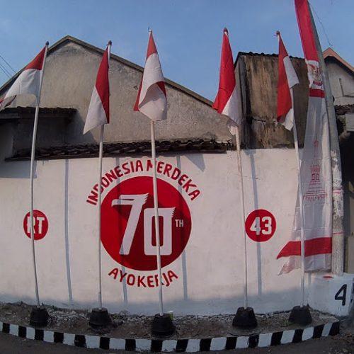 Coret Tembok, 70 tahun Indonesia Merdeka