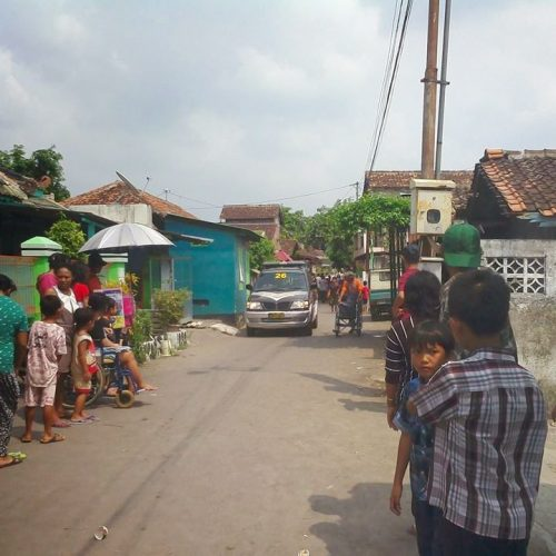 Simulasi Bencana di Kampung Keparakan Lor, Yogyakarta