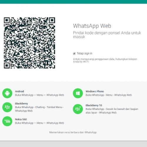 Kini Ada WhatsApp versi PC (resmi)