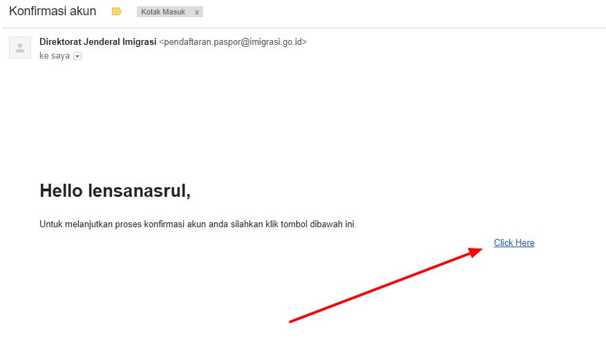 contoh konfrimasi email antran paspor