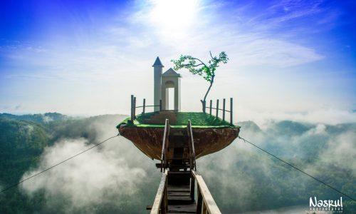 Bukit Panguk Kediwung, Spot Foto Instagramable Bagaikan Negeri Diatas Awan