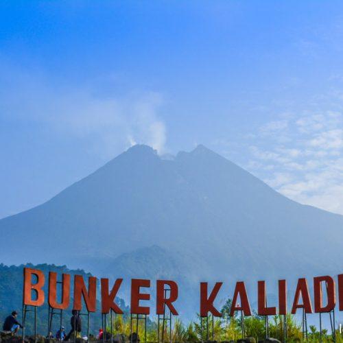 Gunung Merapi Tampak Mengagumkan Dari Bunker Kaliadem