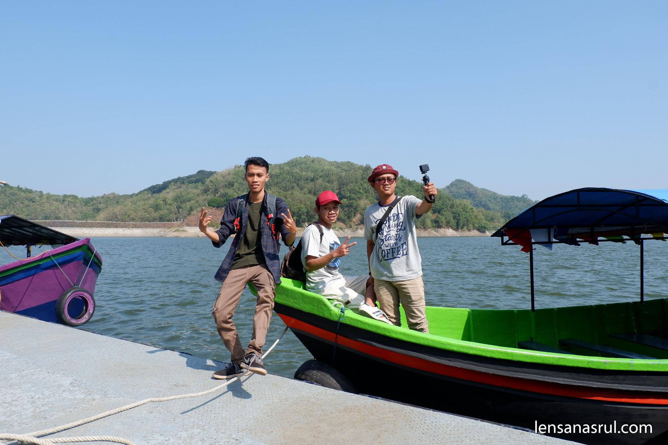 Wisata Perahu waduk sermo kulonprogo yogyakarta